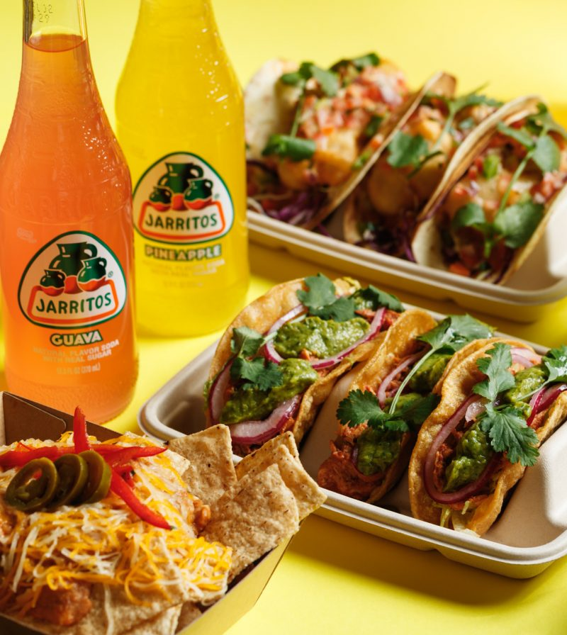 Takeaway and delivery tacos, nachos & sodas